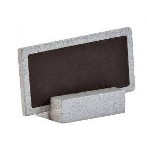Krijtbordjes op standaard zilver