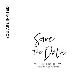Modern save the date kaart vierkant enkel