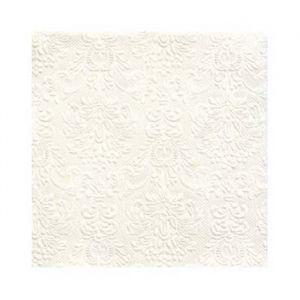 Gebaksservetten Elegance Pearl White (15st)