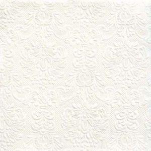 Servetten Elegance Pearl White