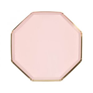 Gebaksbordjes roze (8st) Mix and Match Meri Meri
