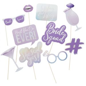 Party Props Bride Squad Paars (10st) Hootyballoo