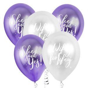 Ballonnen Bride Squad Paars (5st) Hootyballoo