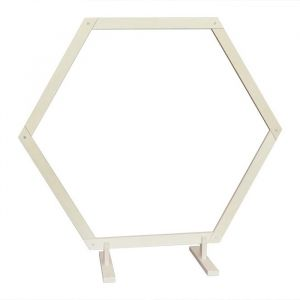 Houten backdrop frame hexagon medium (170cm)