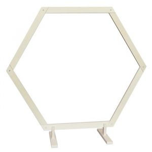 Houten backdrop frame hexagon large (210cm)