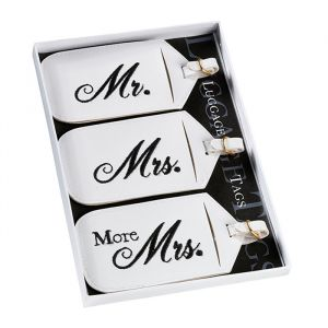 Kofferlabels Mr & Mrs