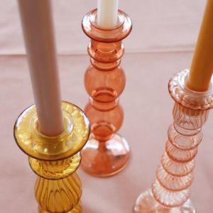 Kandelaar Classic Glass coral À La