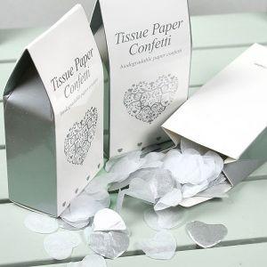 Vintage romance confetti wit-zilver
