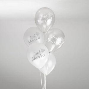 Vintage Romance ballonnen (8st) Wit-Zilver