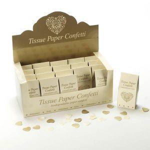 Vintage romance confetti Goud-ivoor