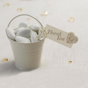 Vintage Romance Thank you labels (10st) Ivoor-Goud
