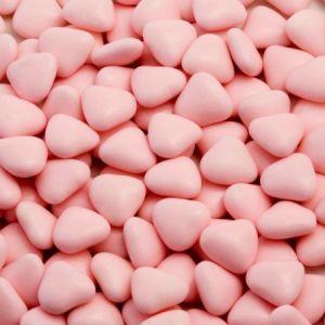 Mini chocoladehartjes 1kg Roze