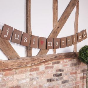 Just Married slinger kraft large