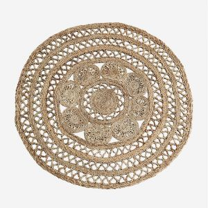 Vloerkleed jute braided rond Madam Stoltz