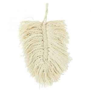 Wanddecoratie katoenen blad off-white Madam Stoltz