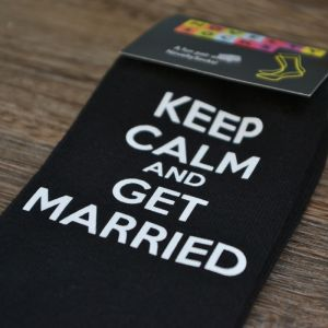 Sokken Keep Calm and Get Married