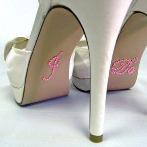 Schoenstickers I Do Roze