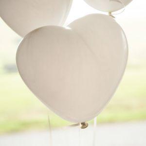 Hartballonnen (10st) Wit