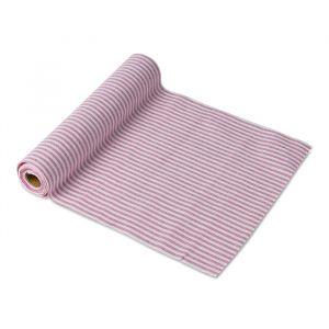 Tafelloper gestreept roze-wit