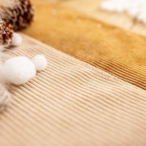 Tafelloper ribvelvet beige