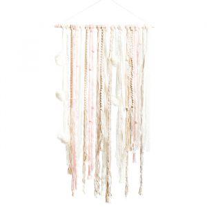 Backdrop linten roze/wit/ivoor