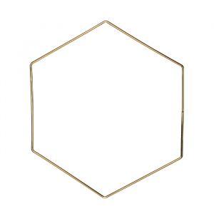 Metalen decoratie hexagon (30cm)