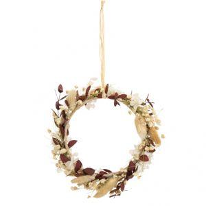 Decoratiehanger droogbloemen taupe