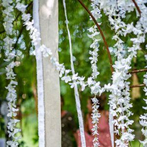 Decoratie slinger witte lelie (165cm)