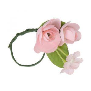 Servetringen bloemen roze (5st)