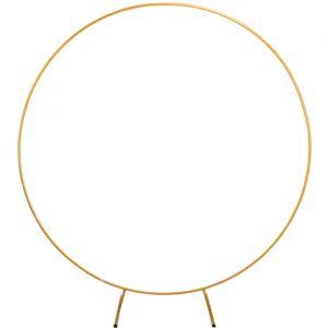 Metalen backdrop circkel goud (2m)