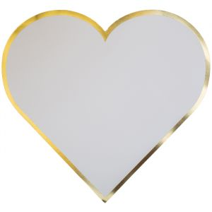 Placemats Gold Hearts (8st)