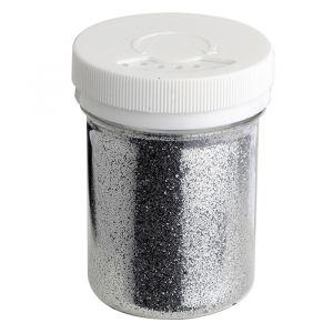 Potje met fijne glitters zilver