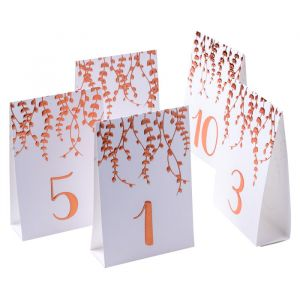 Tafelnummers Branches roségoud (10st)