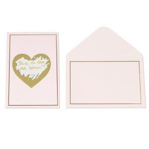 Kraskaarten hart roze (5st)