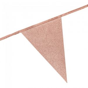 Slinger vlaggen glitter roségoud