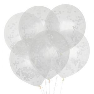 Confetti ballonnen wit (6st) House of Gia