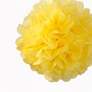 Pompon 30 cm Geel