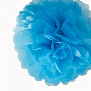 Pompon Turquoise 30cm