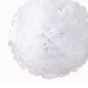 Pompon Wit 30cm