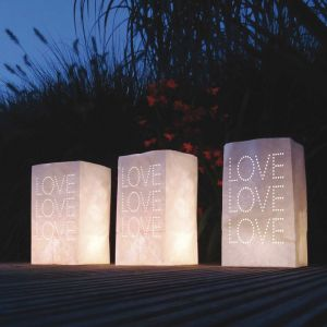Candle bags LOVE (5st)