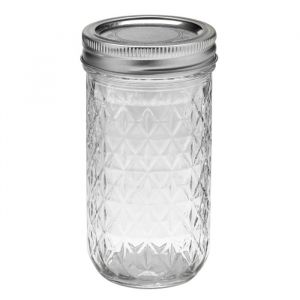 Mason Jar Ball Quilted Crystal Jelly (12oz)