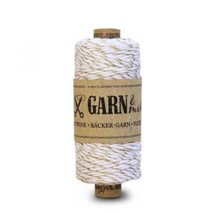 Bakers Twine Sparkle Goud-wit (45m)
