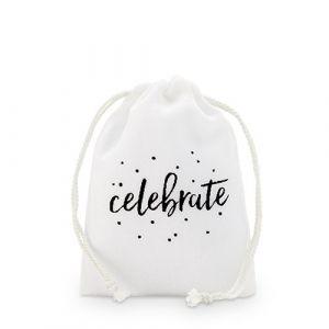Bedankzakjes Celebrate wit (12st)