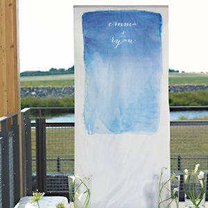 Aquarel backdrop gepersonaliseerd