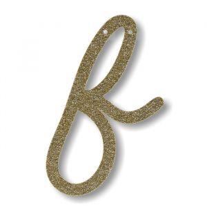 Letter F - Acryl slinger goud