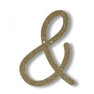 Symbool & - Acryl slinger goud