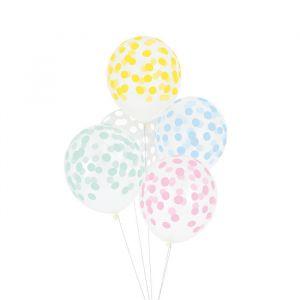 Confetti Ballonnen Pastel mix (5st)