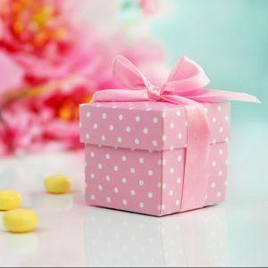 Doosje met stippen roze (10st)