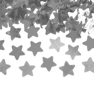 Confetti kanon sterren zilver