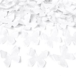 Confetti kanon vlinders wit 40cm
